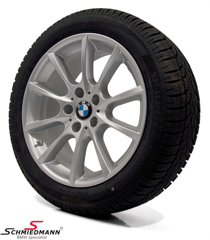 "18"" V-Speiche 281 original BMW rims with 245/45/18 Runflat Dunlop SP Wintersport 3D ROF winter tyres"