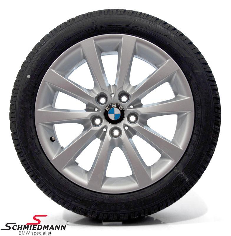 "18"" V-Speiche 328 originale BMW alufælge m.245/45/18 Runflat Dunlop SP Wintersport 3D ROF vinterdæk"