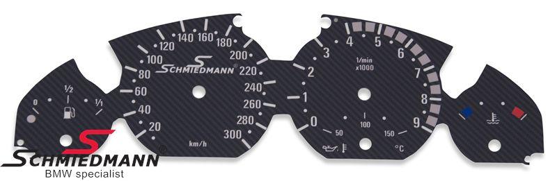 Schmiedmann special instrumenterings ombygnings-sæt (mat-carbon)
