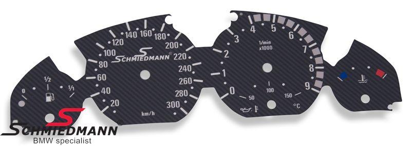 Schmiedmann special instrumenterings ombygnings-sæt (mat-carbon) med tophastigheds-udvidelse (uden fejlvisning)
