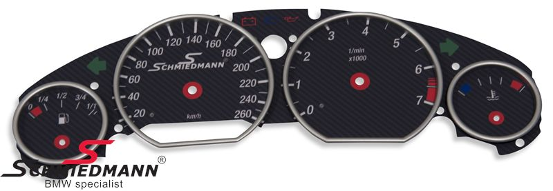 Schmiedmann special cluster modification-set (mate-carbon) including speed extension (without inaccurate showing of speed)