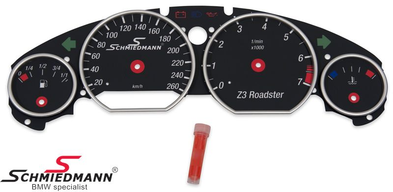Schmiedmann special cluster modification-set (black) including speed extension (without inaccurate showing of speed)