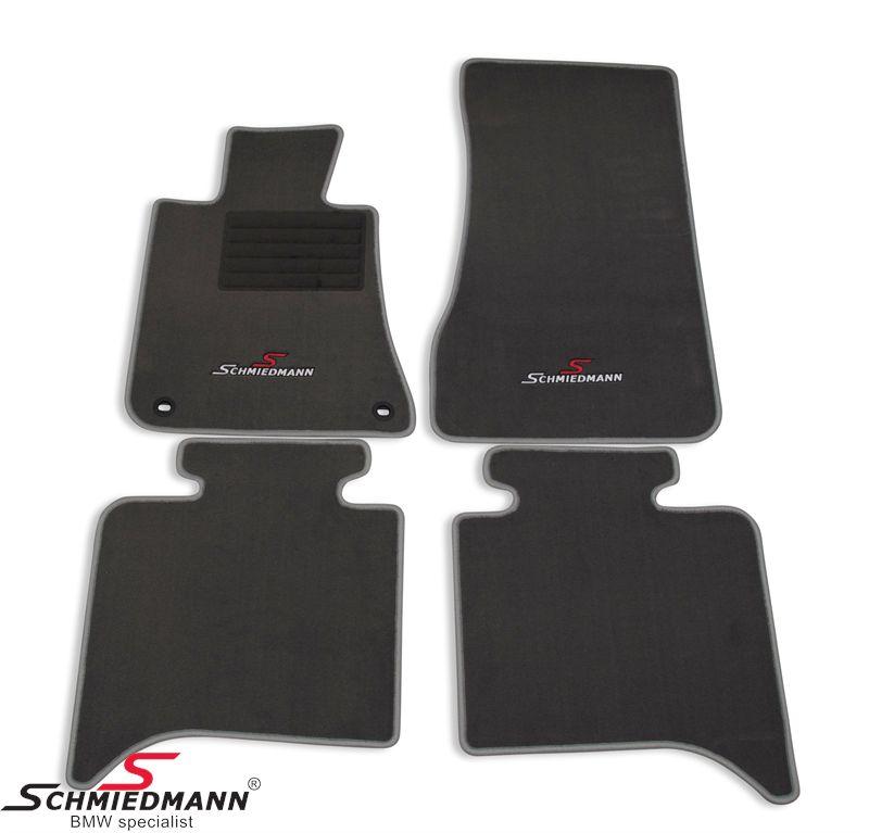 Floormats front/rear original Schmiedmann -Sport Edition- grey