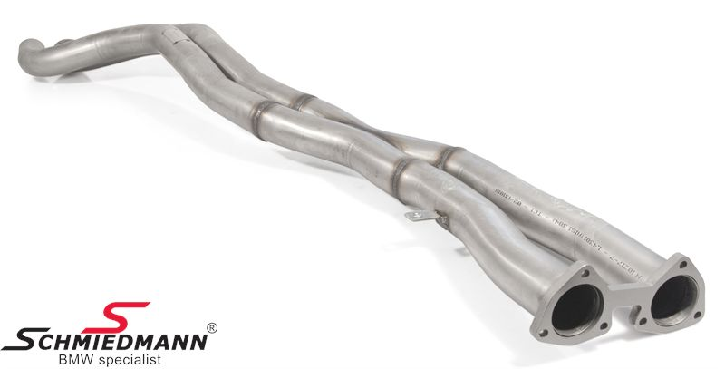 Schmiedmann rear middle-silencer replacement / X-pipes (from the cat to the rear silencer)