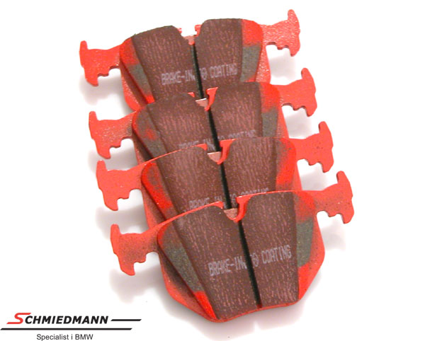 Racing brake pads rear EBC red stuff (for road and extreme driving)