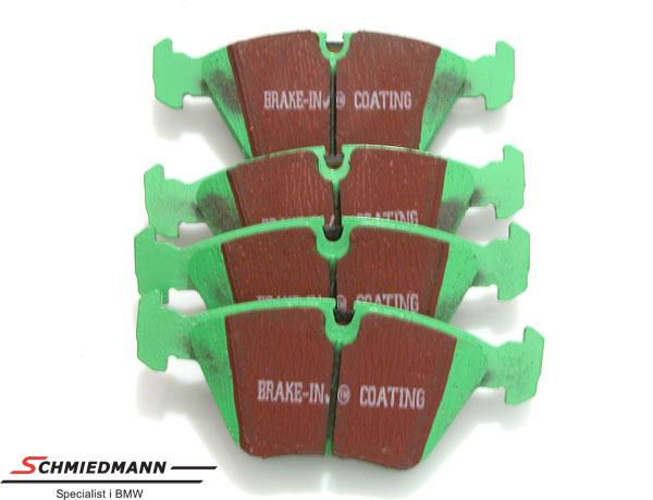 Racing brake pads front EBC green stuff (for sporty driving)