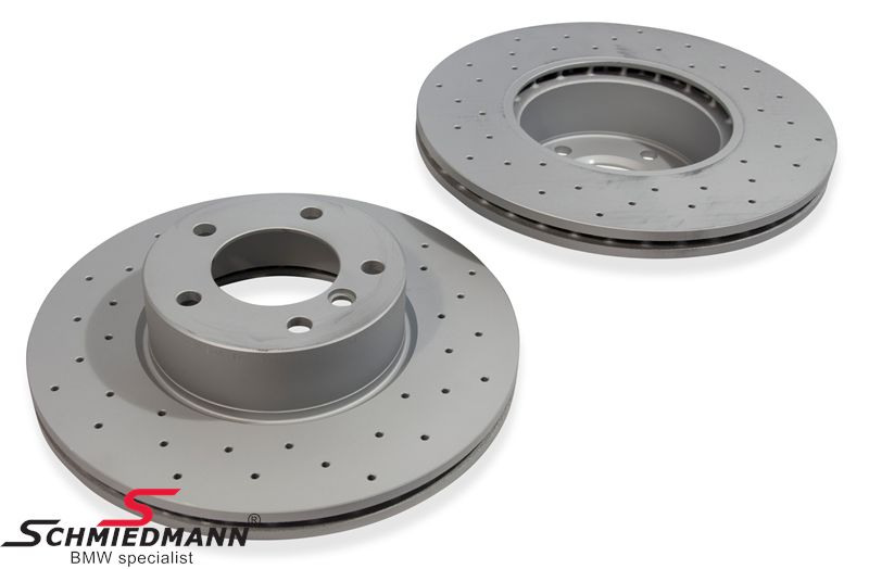 Racing brake discs front set 312X24MM ventilated with holes Zimmermann