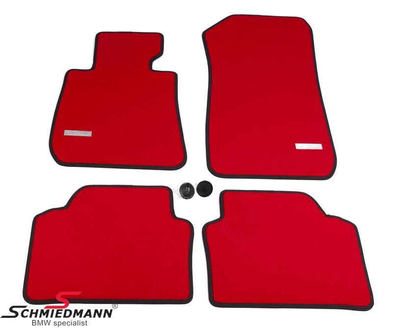 Schmiedmann -Exclusive Red- paksu kangasmattosarja, eteen/taakse, punainen