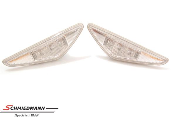 Seitenblinker LED weiss Klarglas