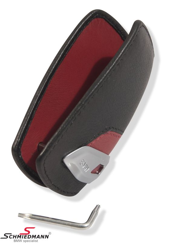 Key case -BMW- black/red