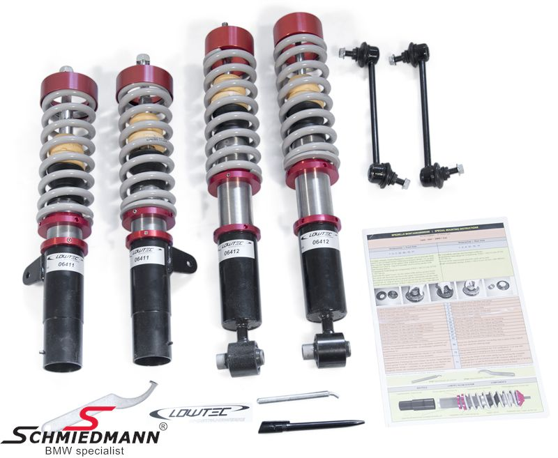 Coilover Kit Lowtec H9.2 hight adjustable front+rear max. 70/60MM