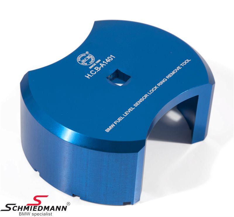 Abdreh-Werkzeug, um den Plastik Kraftstoff-Niveausensor-Deckel abzudrehen (befindet sich unter die Rückbank)
