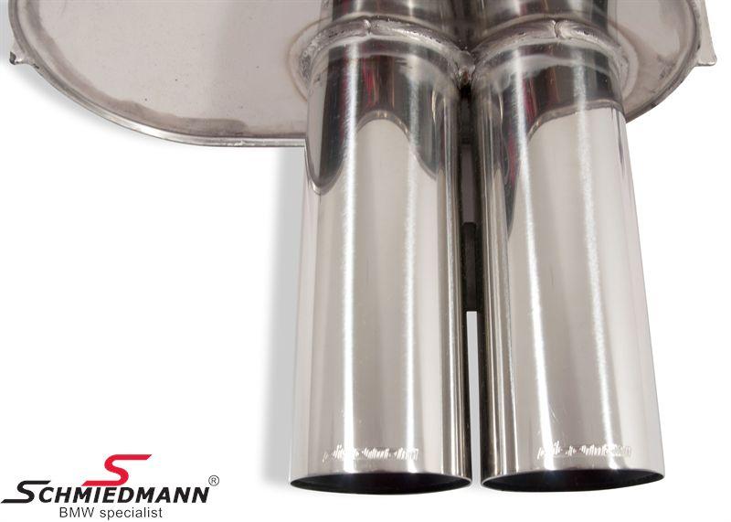 Sportsbagpotte Eisenmann M52/M54 rørhaler runde 2XØ83MM