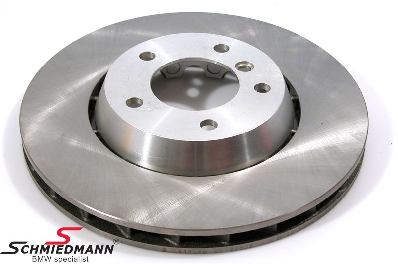 Brake disk floating bearings with alloy center 315x28MM ventilated R.-side