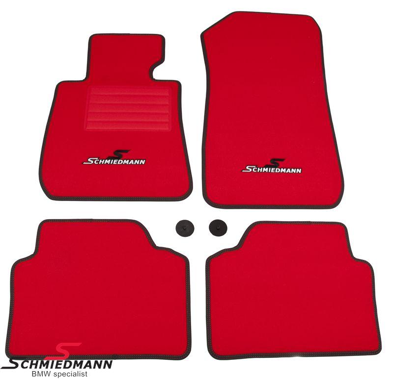 Schmiedmann -Sport EVO Red- kangasmattosarja, eteen ja taakse, punainen