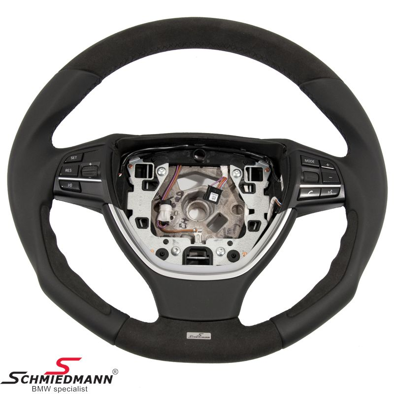 Schmiedmann sport steering wheel 3 spoke handmade with genuine nappa leather/alcantara