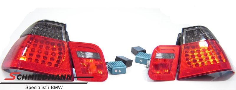Baklykter LED rød/sorte facelift upgrade spesial design