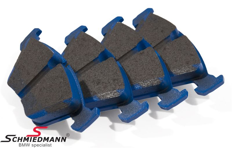 Racing brake pads front EBC blue stuff NDX (For the racetrack, but with street approval)