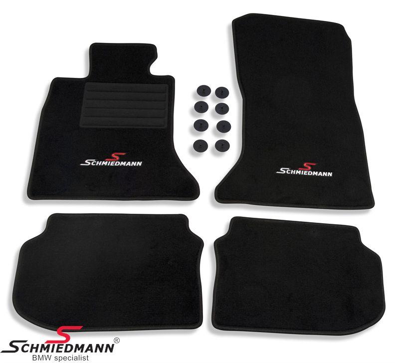 Schmiedmann -Sport Edition- kangasmattosarja, eteen ja taakse, musta