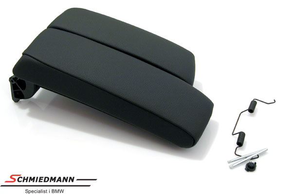 Armrest kit imitat leather black