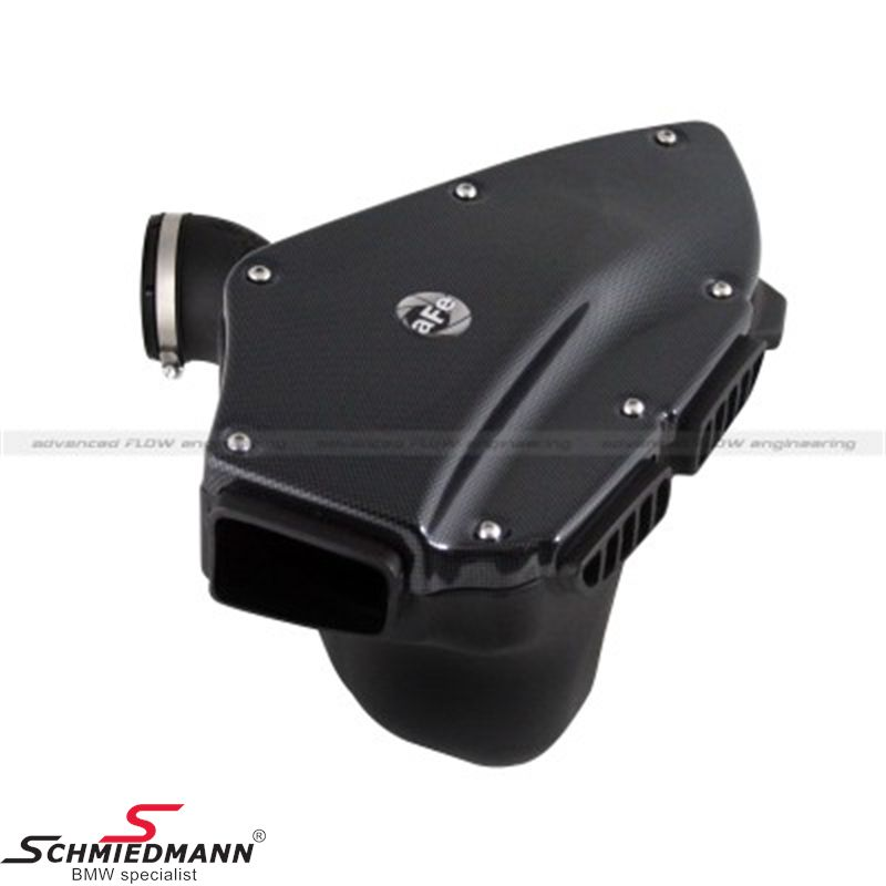 AFE carbonized Power Magnum Force Stage-2 Si PRO 5R sport air intake system, with upgraded airbox