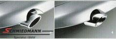 BMW org. krom-rørhale rund