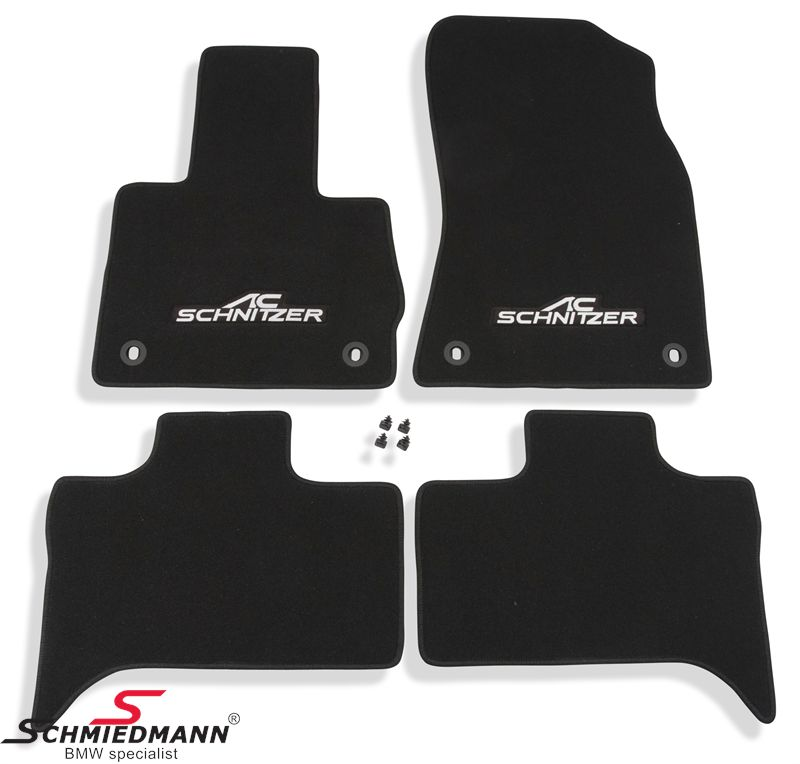 Floormats front/rear original AC Schnitzer black (also available in other colors)