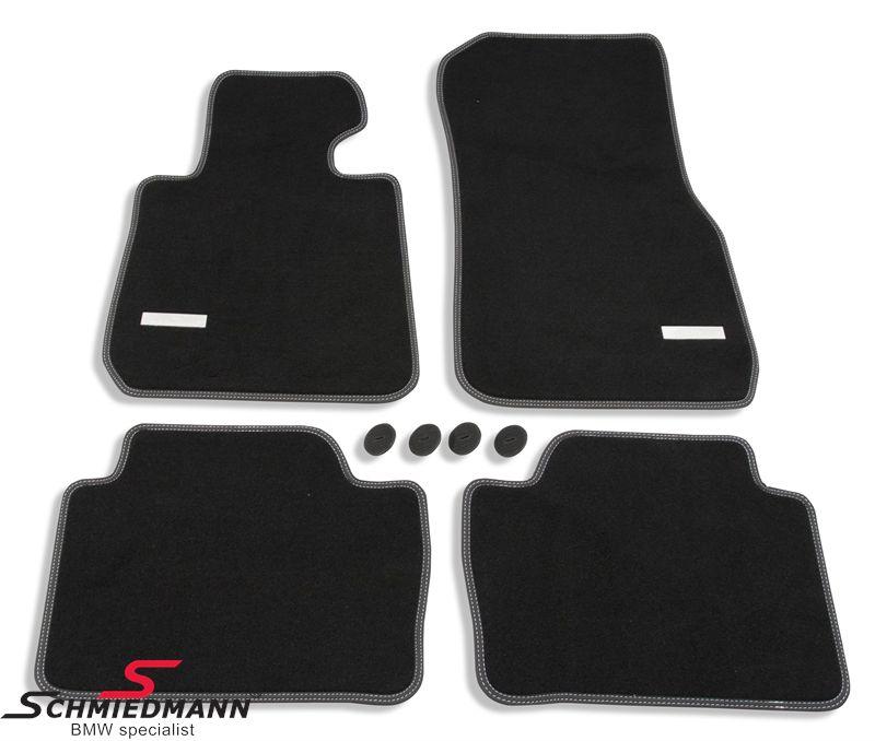 Schmiedmann -Exclusive- mustat lattimatot eteen ja taakse - extra paksut