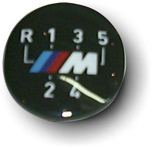Emblem M-Tech. Transparent für Schaltknauf beleuchtet
