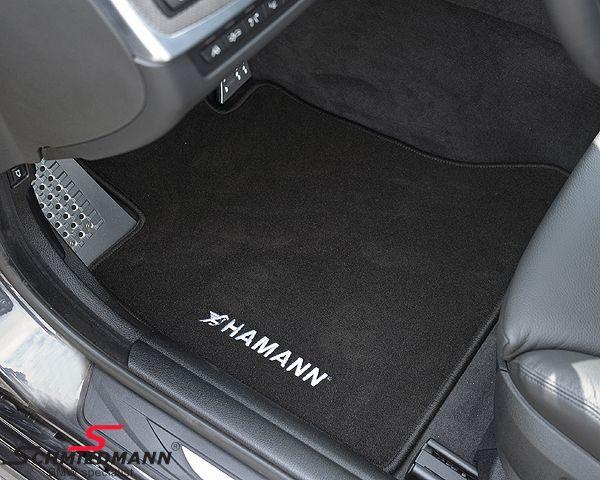 Floormats front/rear original -HAMANN- black
