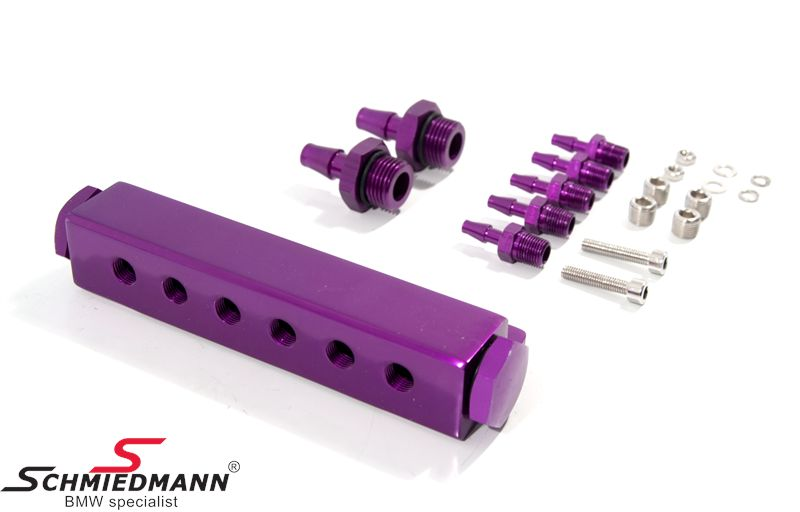 Turbo vacuum station purple, with 6 outputs e.g. for blowoff valve/wastegate/turbo boost control etc., universal