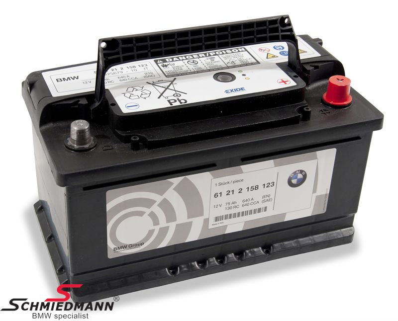 Batteri 75AH original BMW