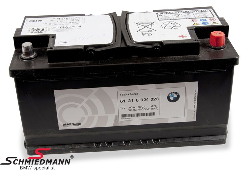 61 21 6 806 755 Agm Battery Original Bmw 92ah