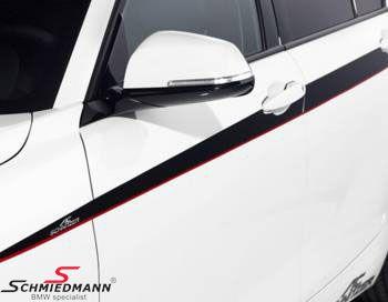 Originale AC Schnitzer design striber sort/rød