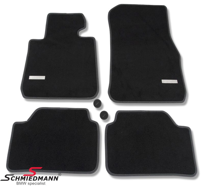 Floormats front/rear original Schmiedmann -Exclusive- black extra thick quality