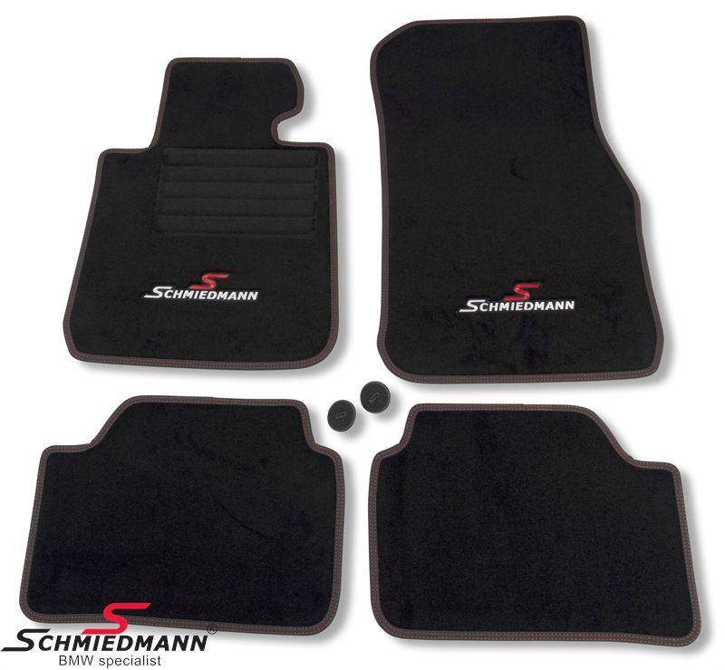 Floormats front/rear original Schmiedmann -Sport EVO- black