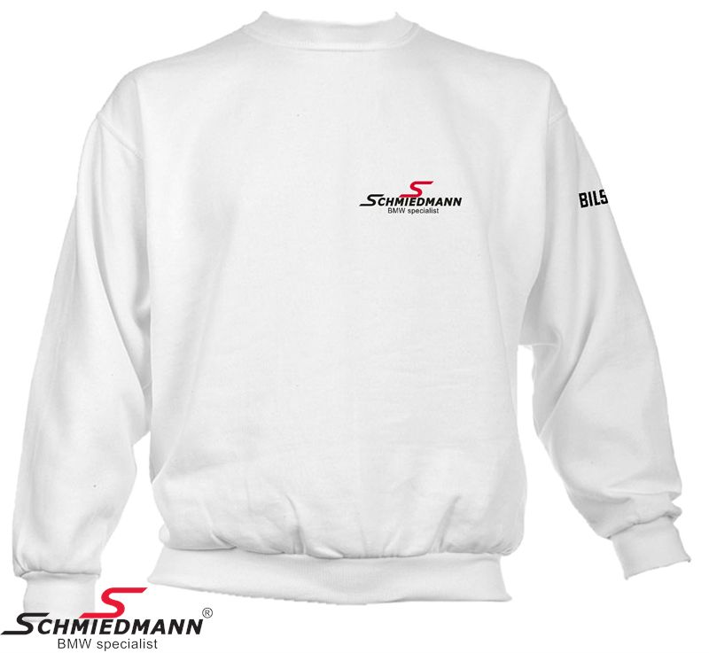 Schmiedmann logo sweatshirt hvid