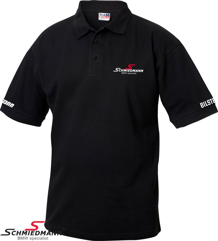 Schmiedmann logo polo T-shirt sort