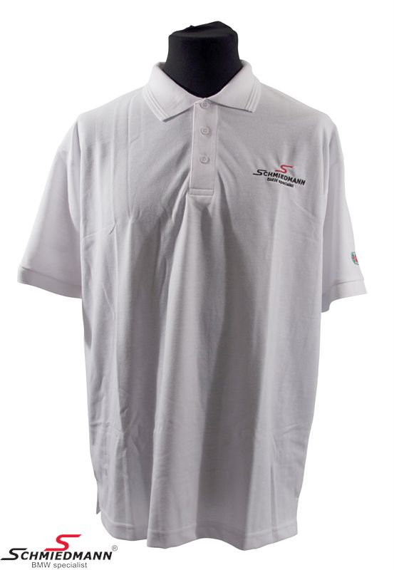 Schmiedmann logo polo T-shirt white