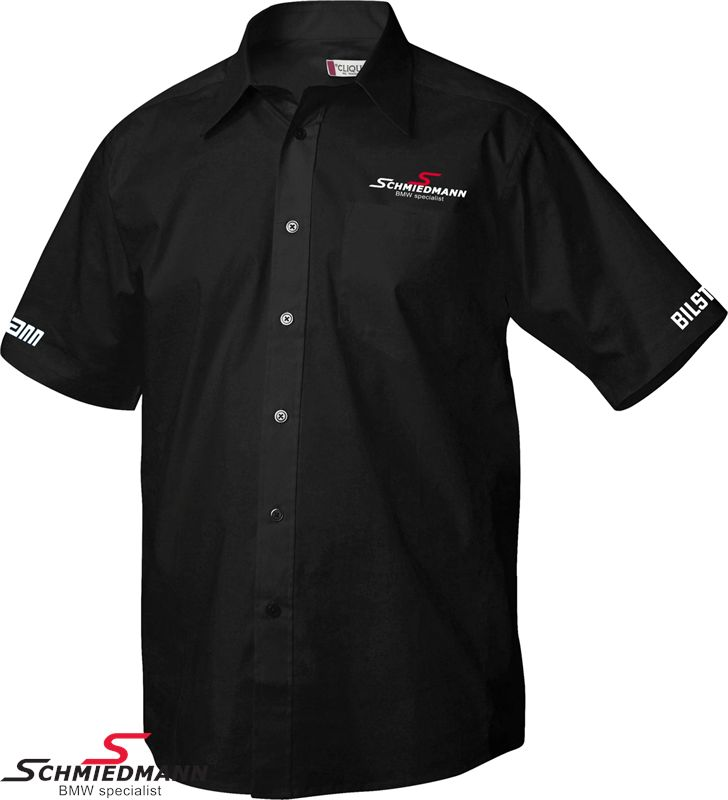 Schmiedmann shirt short-sleeved for men black (spare time)
