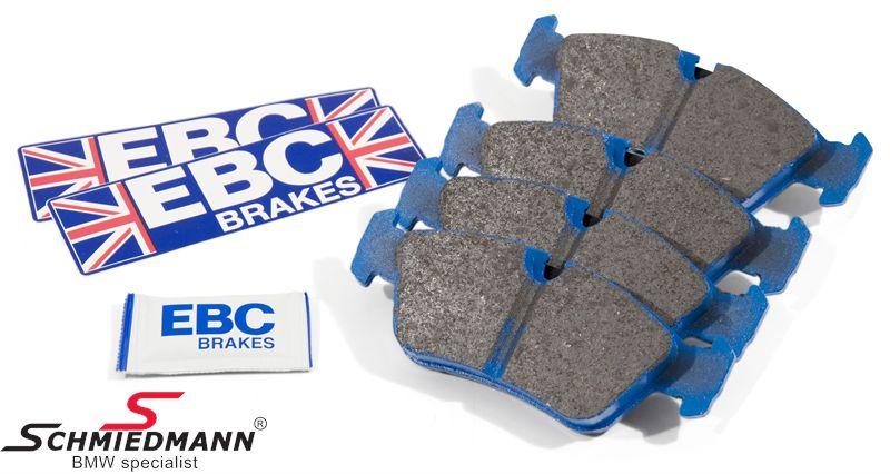 Sportsbremsbeläge vorne EBC blue stuff NDX (für die Rennstrecke, aber mit Strassenzulassung)
