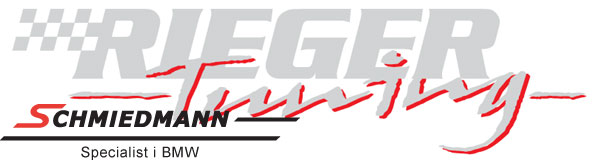 "Rieger logo ""Rieger Tuning"" for the sideskirts 85X22CM silver/red"