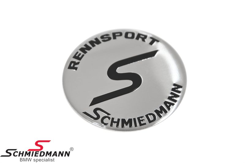 Schmiedmann rim emblem D58MM a little curved (OE ref. regarding to size: 36131181081)