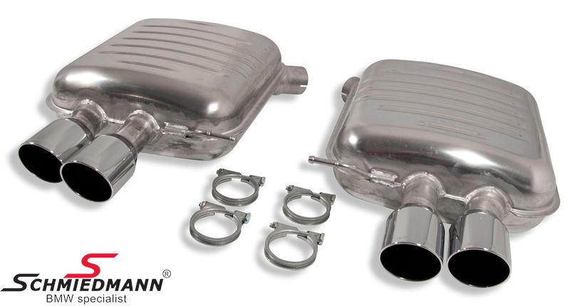 Sports rear silencer set Eisenmann tailpipes round 4XØ83MM