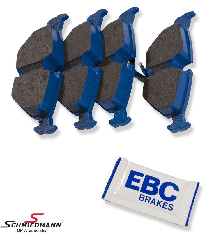 Racerbremseklodser bag EBC blue stuff NDX (til banekørsel)
