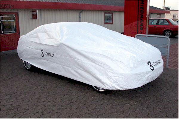 Overtræks-garage formsyet org. BMW med skrift hvid