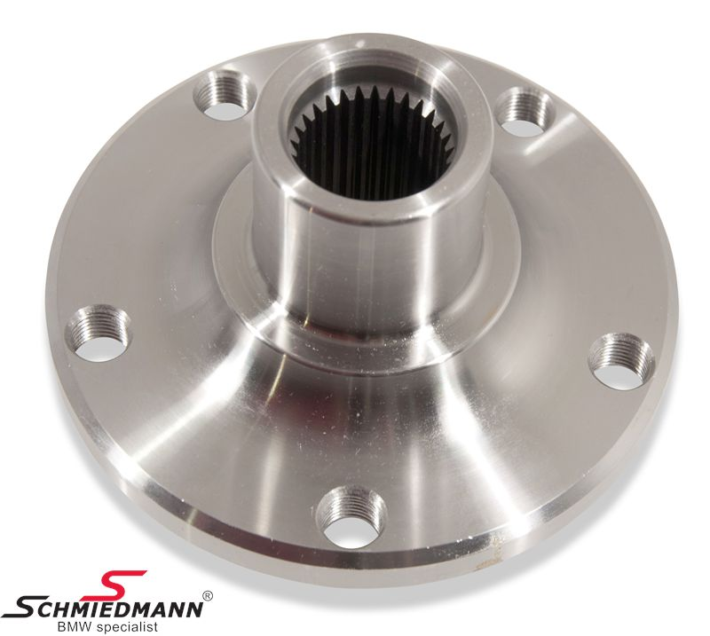 Hub/flange for the shockabsorber/wheel bearing front fits both sides