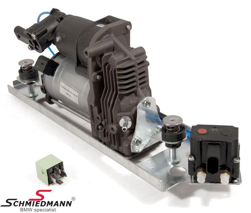 37106789937 37106789937 37 10 6 789 937 BMW E61LCI Touring -  Ilmajousituksen kompressori - sisältää uuden releen